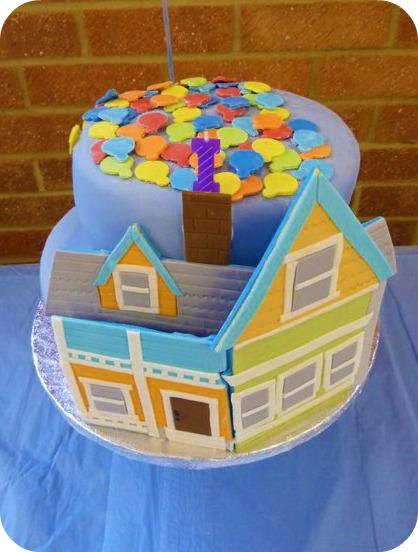 DISNEY PIXAR UP BIRTHDAY CAKE: JENSEN IS ONE!