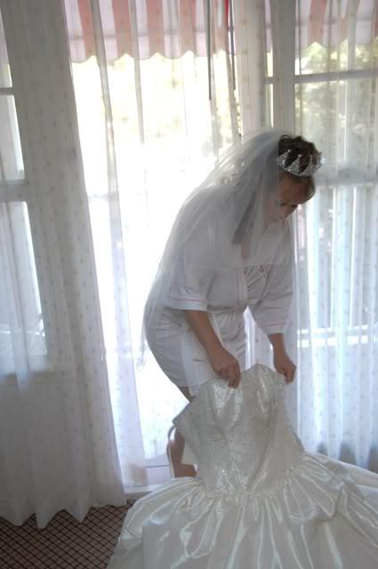 Our Walt Disney Fairytale Wedding (Series): Wedding Day…Getting Into The Dress.