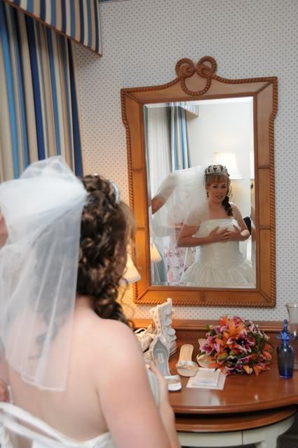 Our Walt Disney Fairytale Wedding: Wedding Day: Getting Into The Dress Part II)