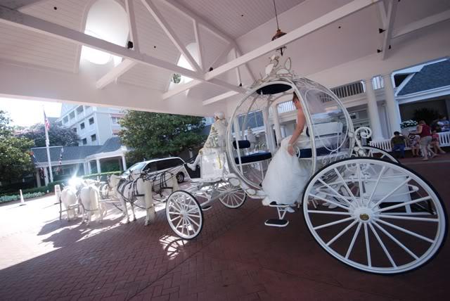 Our Walt Disney Fairytale Wedding (Series): Wedding Day….All Aboard (The Cinderella Carriage)