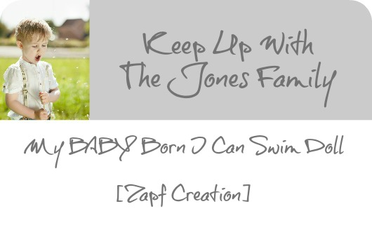 MY BABY BORN I CAN SWIM DOLL [ ZAPF CREATION]