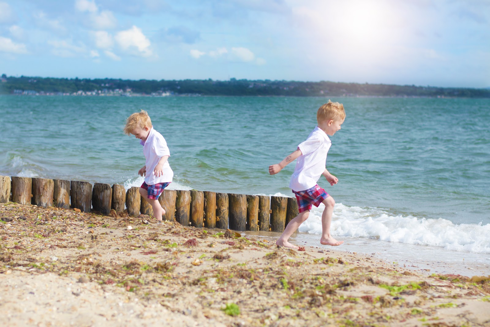 RED, WHITE…AND THE DEEP BLUE [LEPE BEACH]