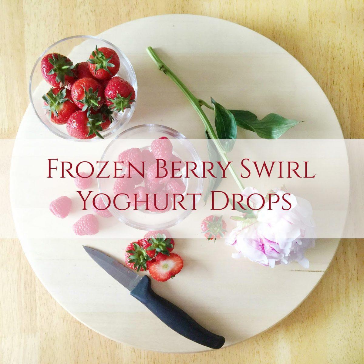 Frozen Berry Swirl Yoghurt Drops for Babies