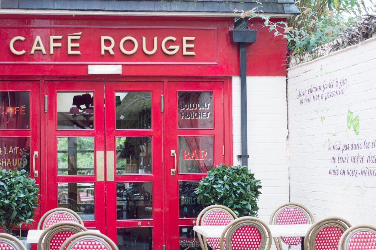 Cafe Rouge French Restaurant Stratford Garden