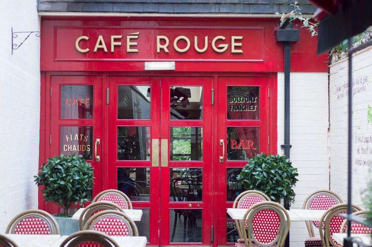 Cafe Rouge French Restaurant Stratford Courtyard
