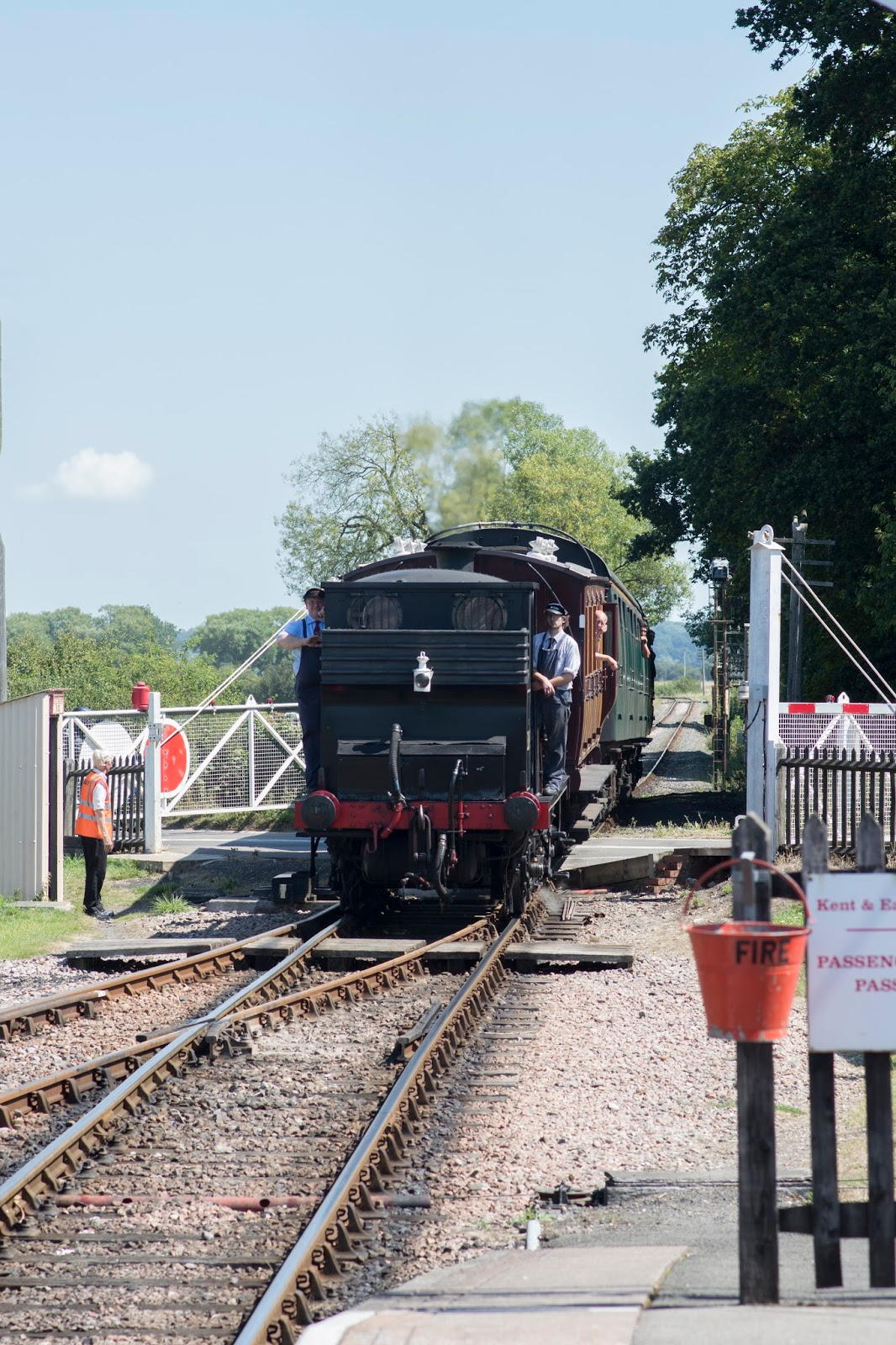 Kent and East Sussex Railway Bodiam Station Rural light steam train