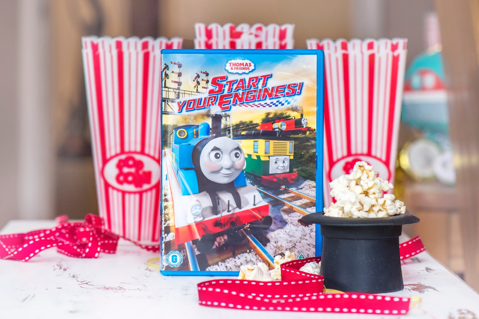 START YOUR ENGINES: TIME FOR POPCORN WITH THOMAS & FRIENDS DVD