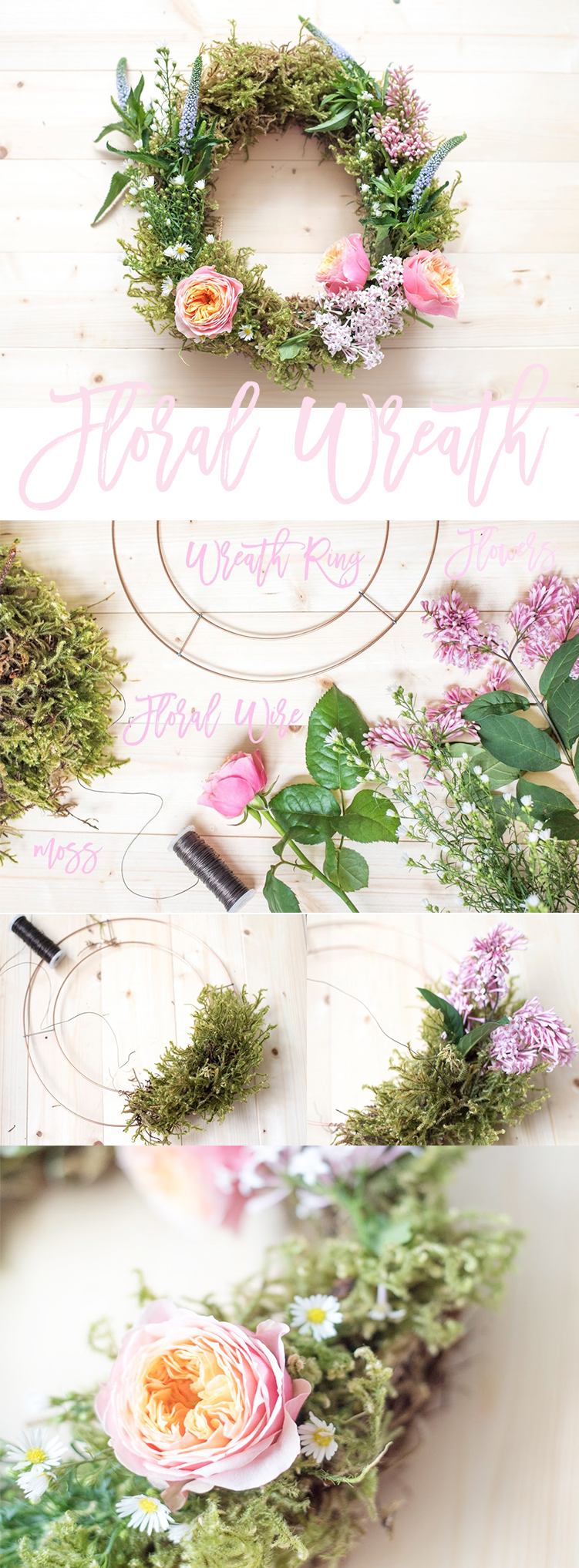 Floral Wreath tutorial DIY