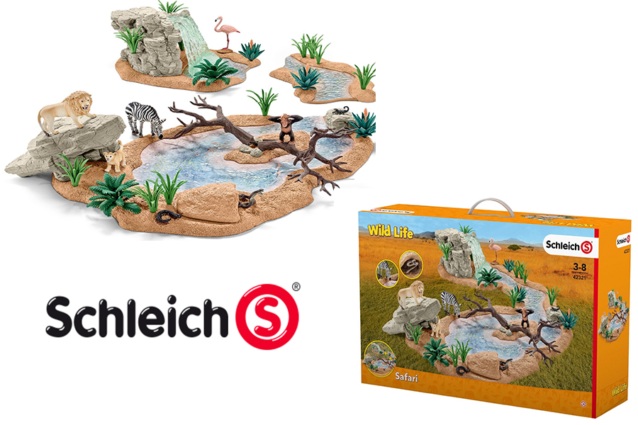 big adventure at the watering hole schleich