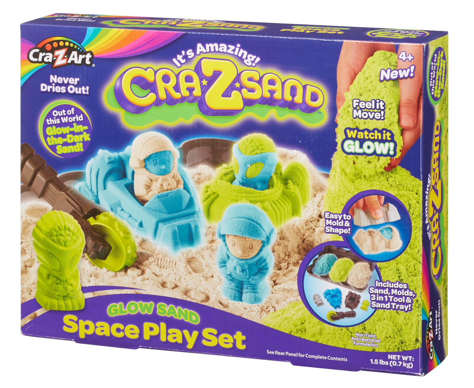 Cra-Z-Sand Glow in the dark play set