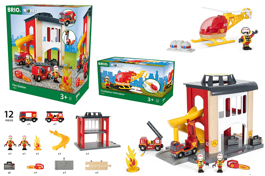 Brio Central Fire Station and Rescue Helicopter