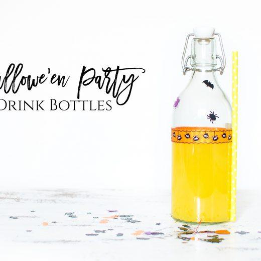 hallowe'en party drink bottles bostik bloggers