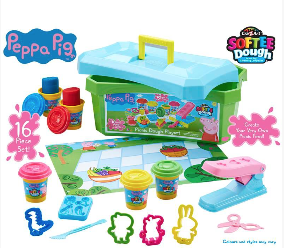 peppa pig softee dough picnic playset