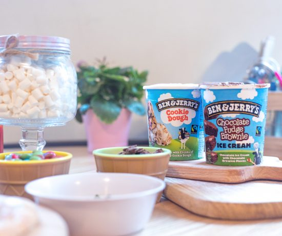Ben & Jerry's Ice Cream and pizza