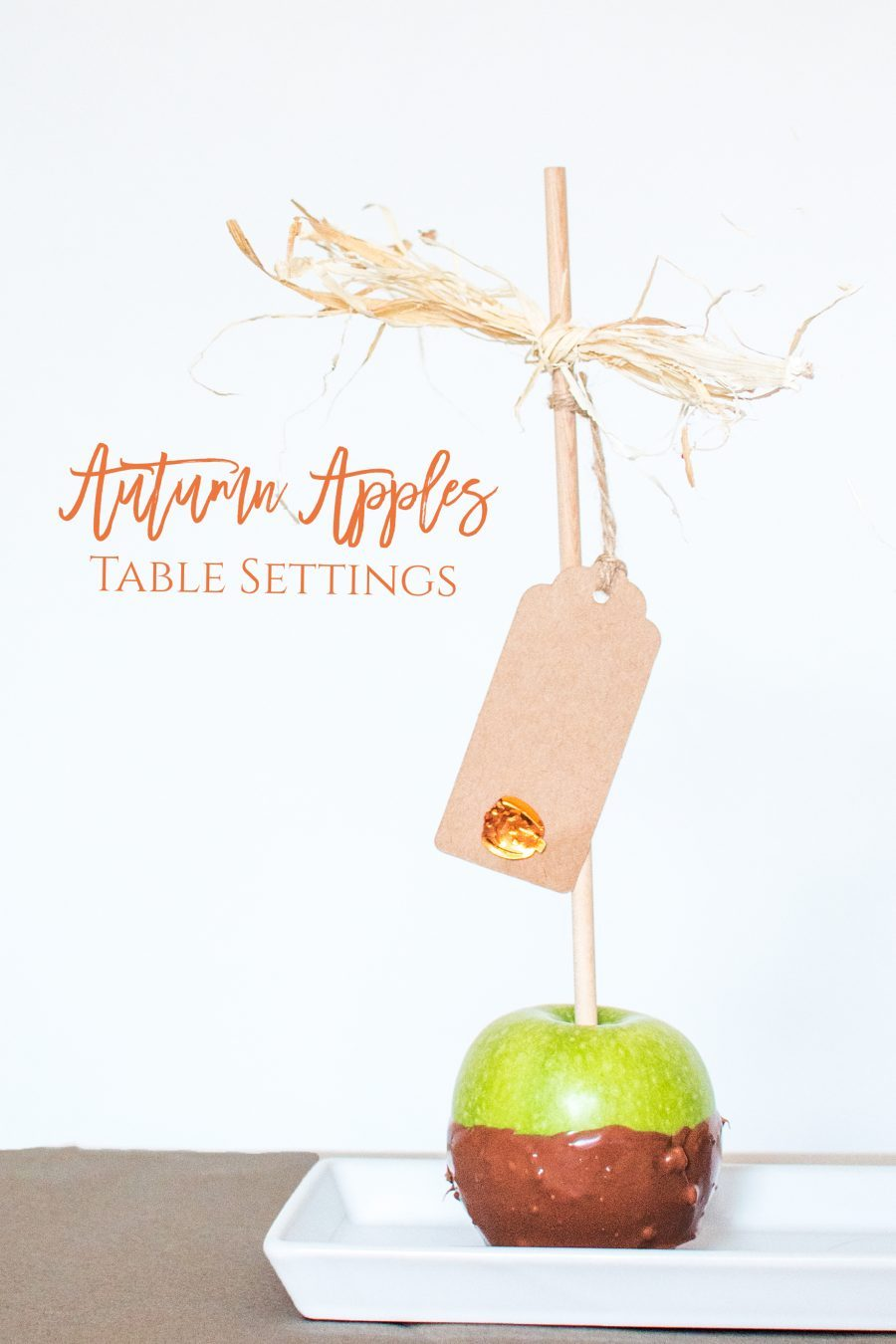 AUTUMN APPLES TABLE SETTINGS
