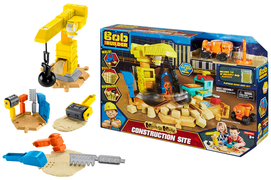 bob the builder mash and old construction site playset