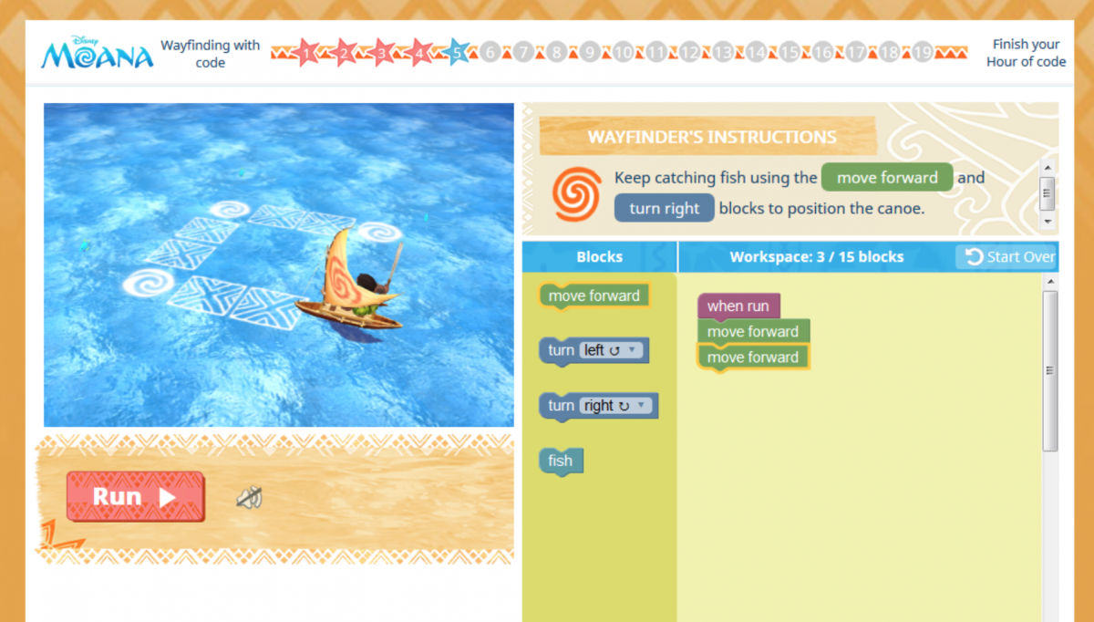 DISNEY'S MOANA: WAYFINDING WITH CODE - Keep Up with the