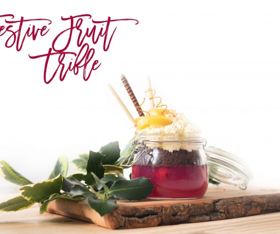 YesToTheBest Del Monte tinned fruit festive trifle