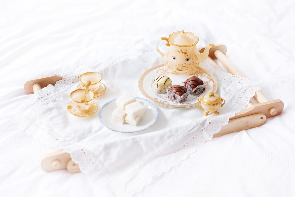 Afternoon tea with Beauty and the Beast Disney Store Toys