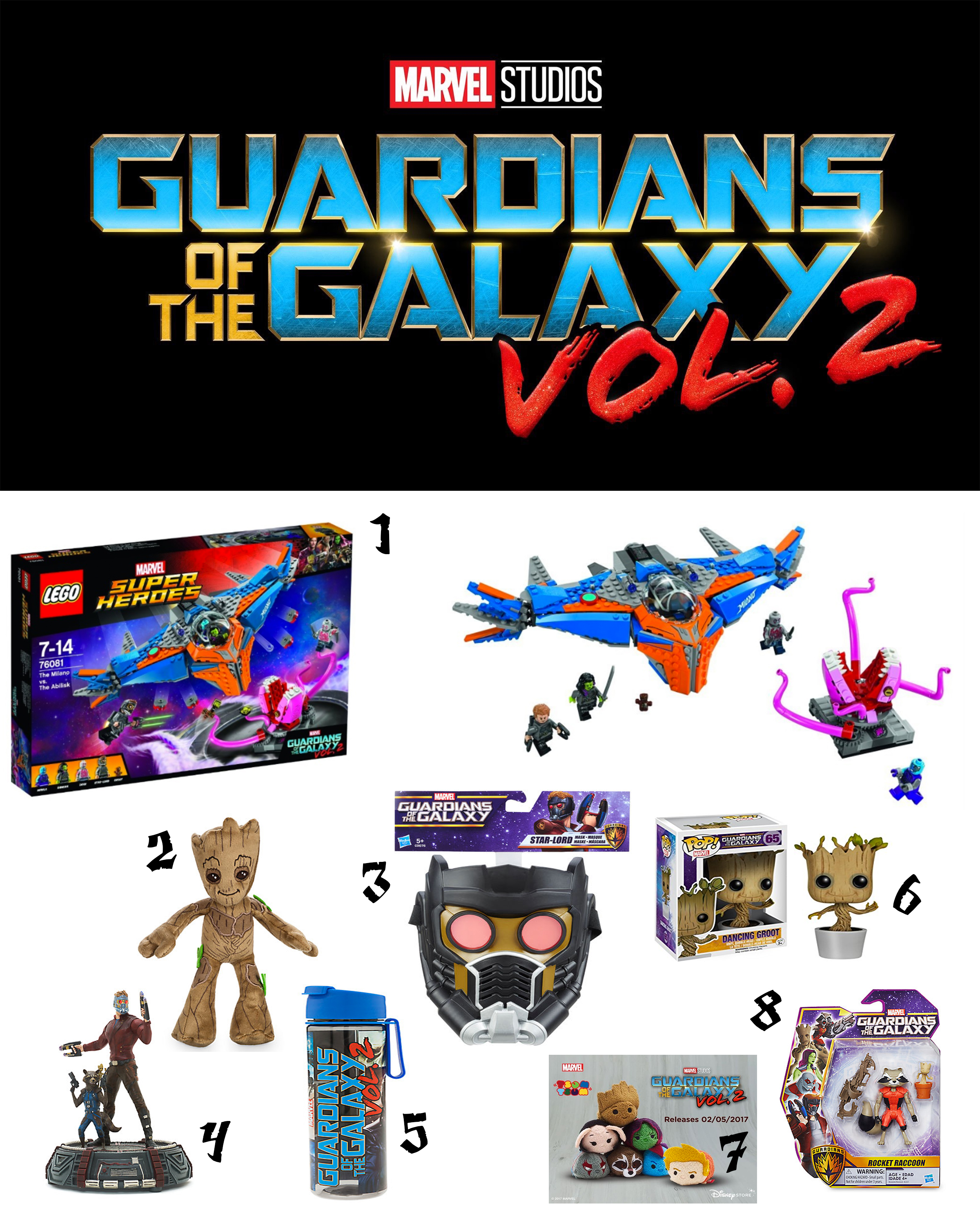 GUARDIANS OF THE GALAXY VOL. 2.: FAVOURITE MOVIE MERCHANDISE