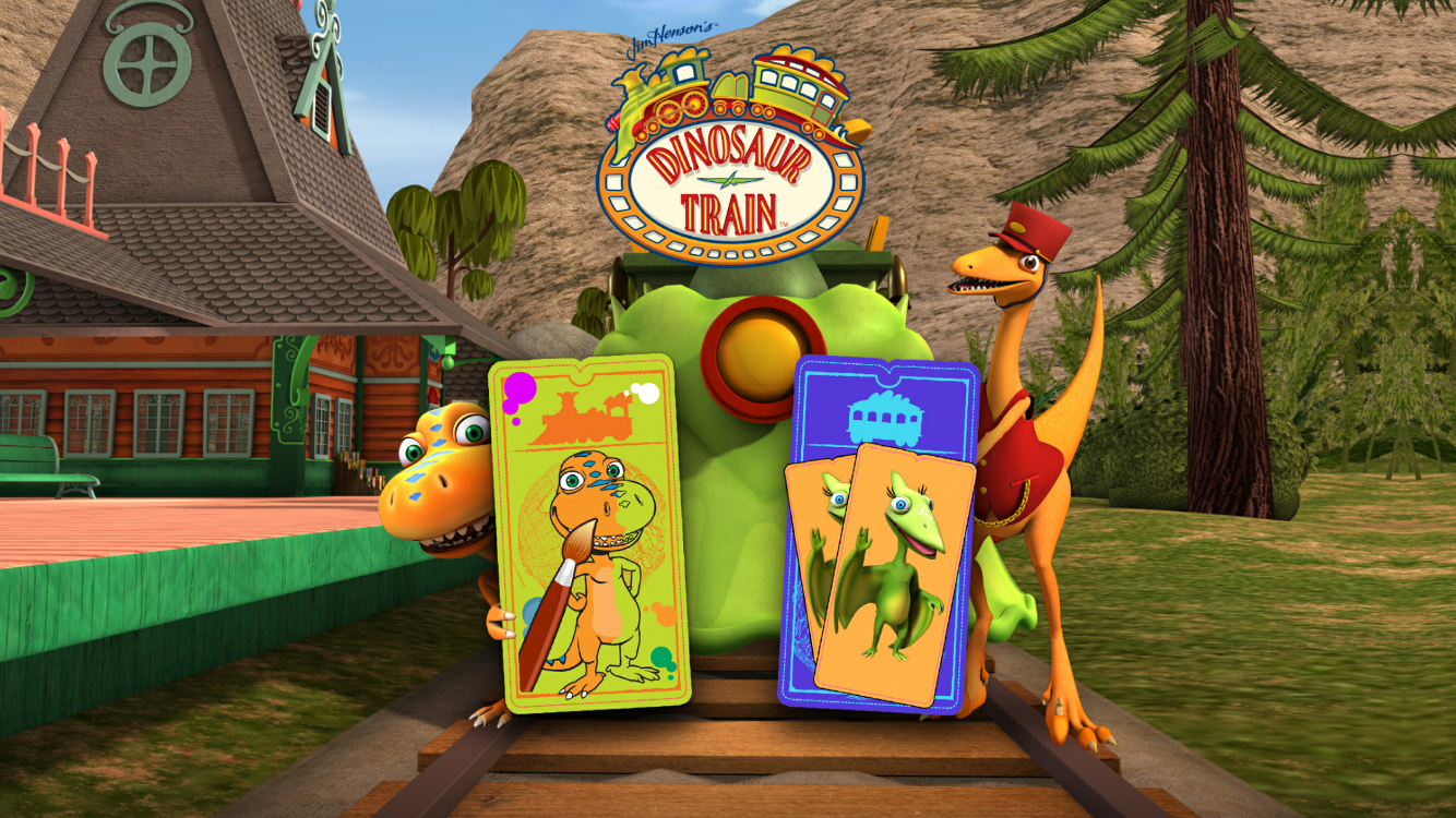 dinosaur train colour and match app