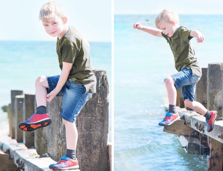 Brighton Beach photographing our children