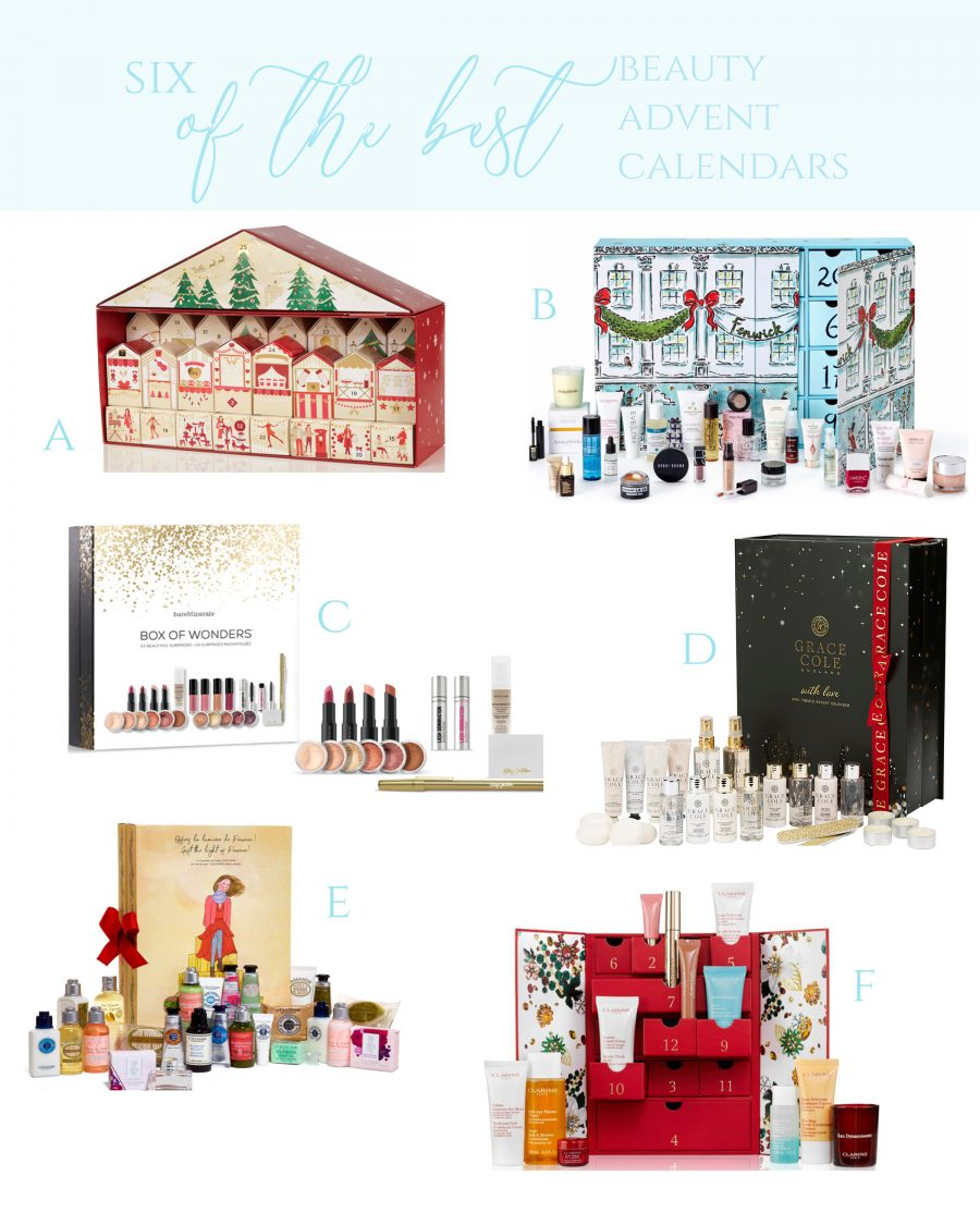 SIX OF THE BEST BEAUTY CHRISTMAS ADVENT CALENDARS