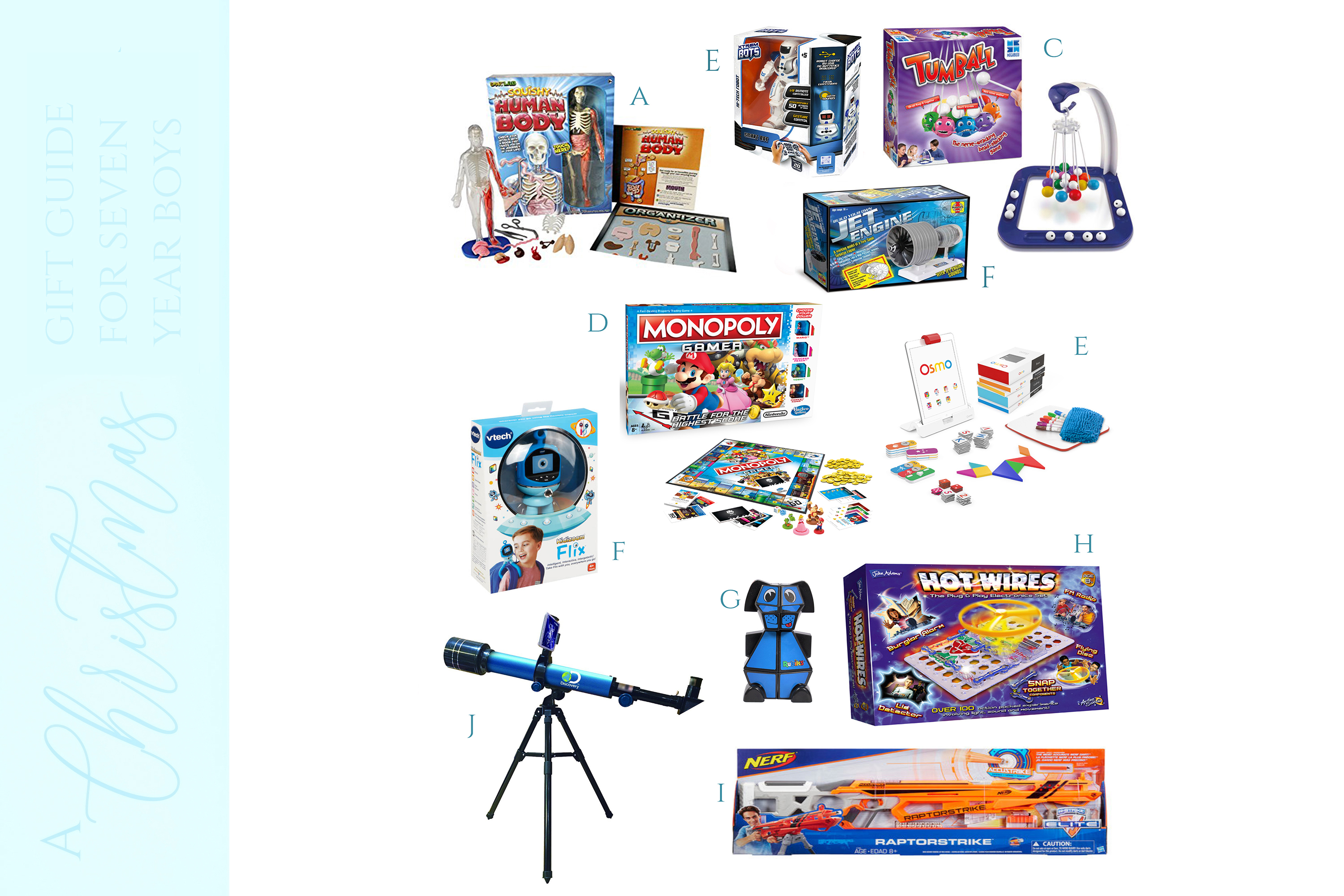 A CHRISTMAS GIFT GUIDE BY A SEVEN YEAR OLD BOY