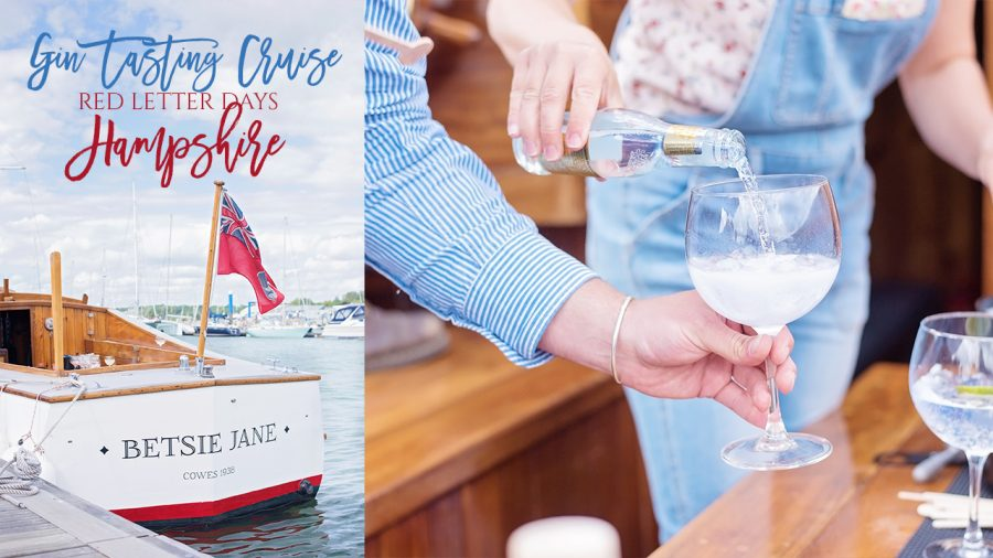 red letter days gin cruise rover hamble hampshire