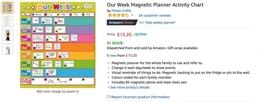 magnetic chore chart