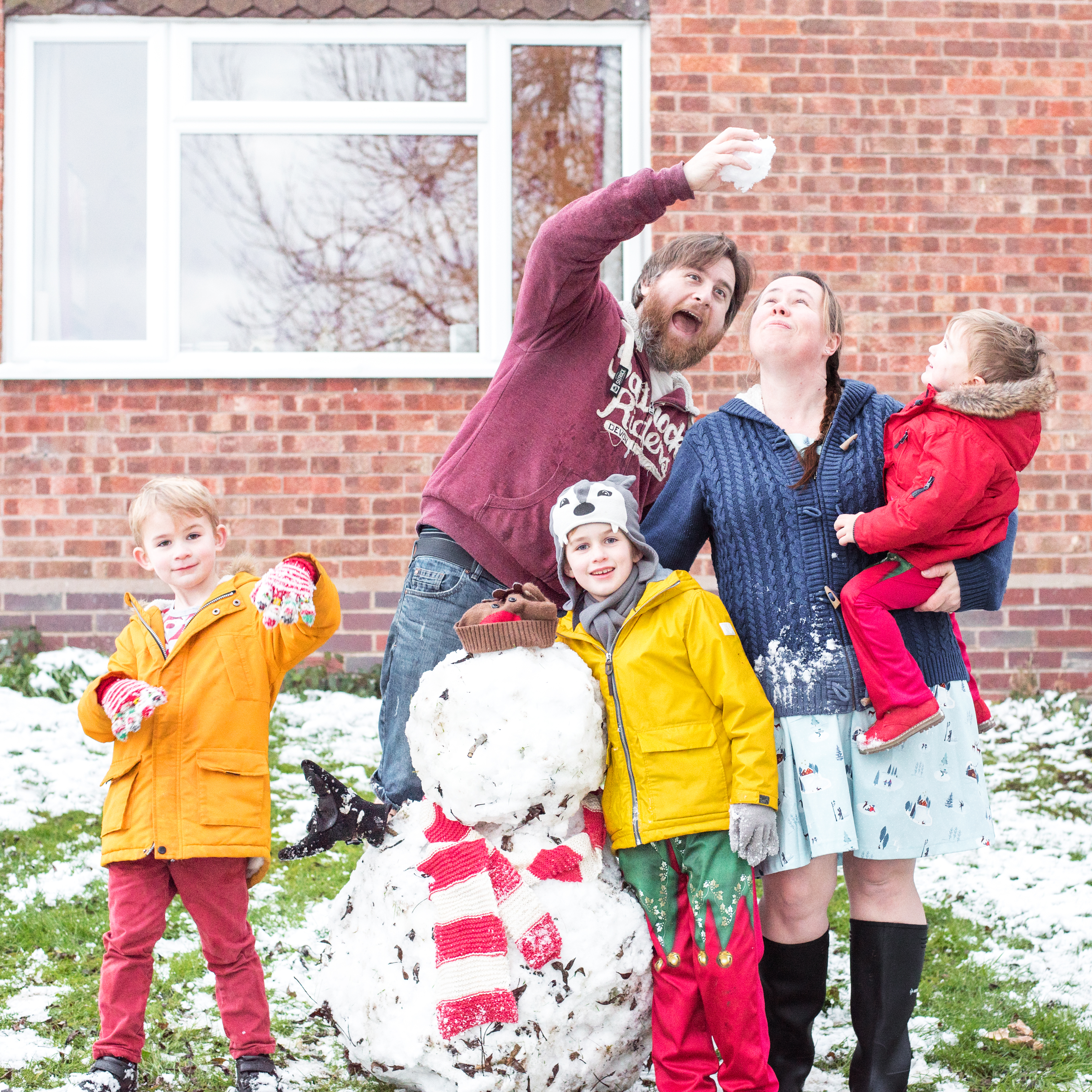 Snow day family photo