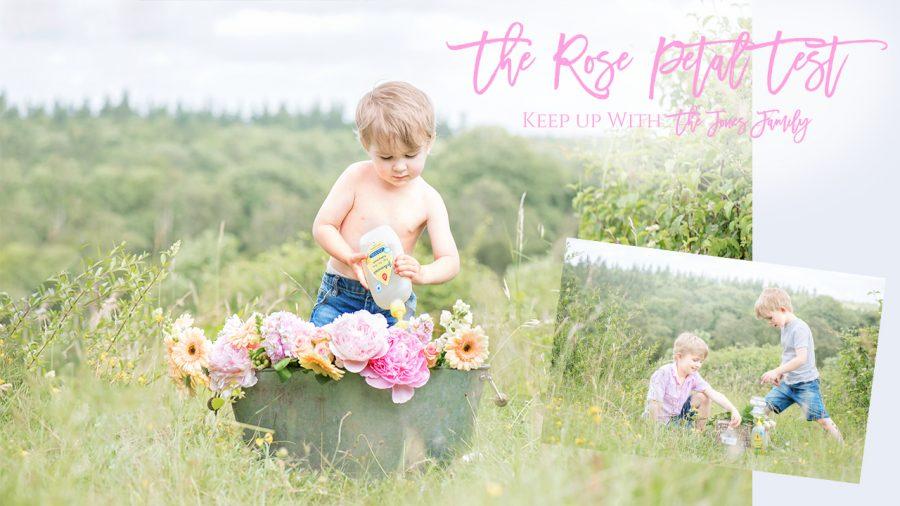 johnsons baby rose petal test