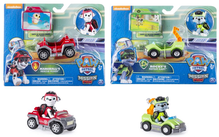 paw patrol toys mission paw cruiser mini vehicles