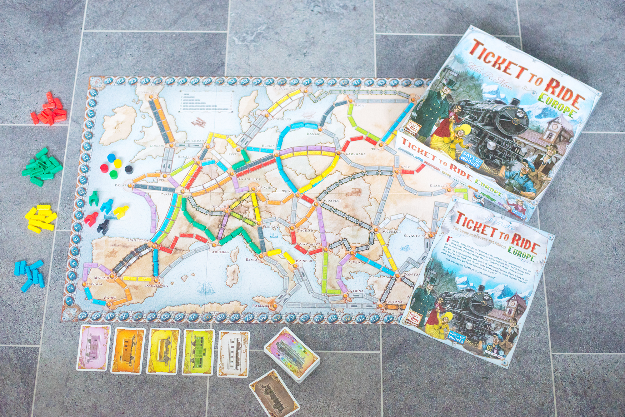 ticket to ride europe board game asmodee