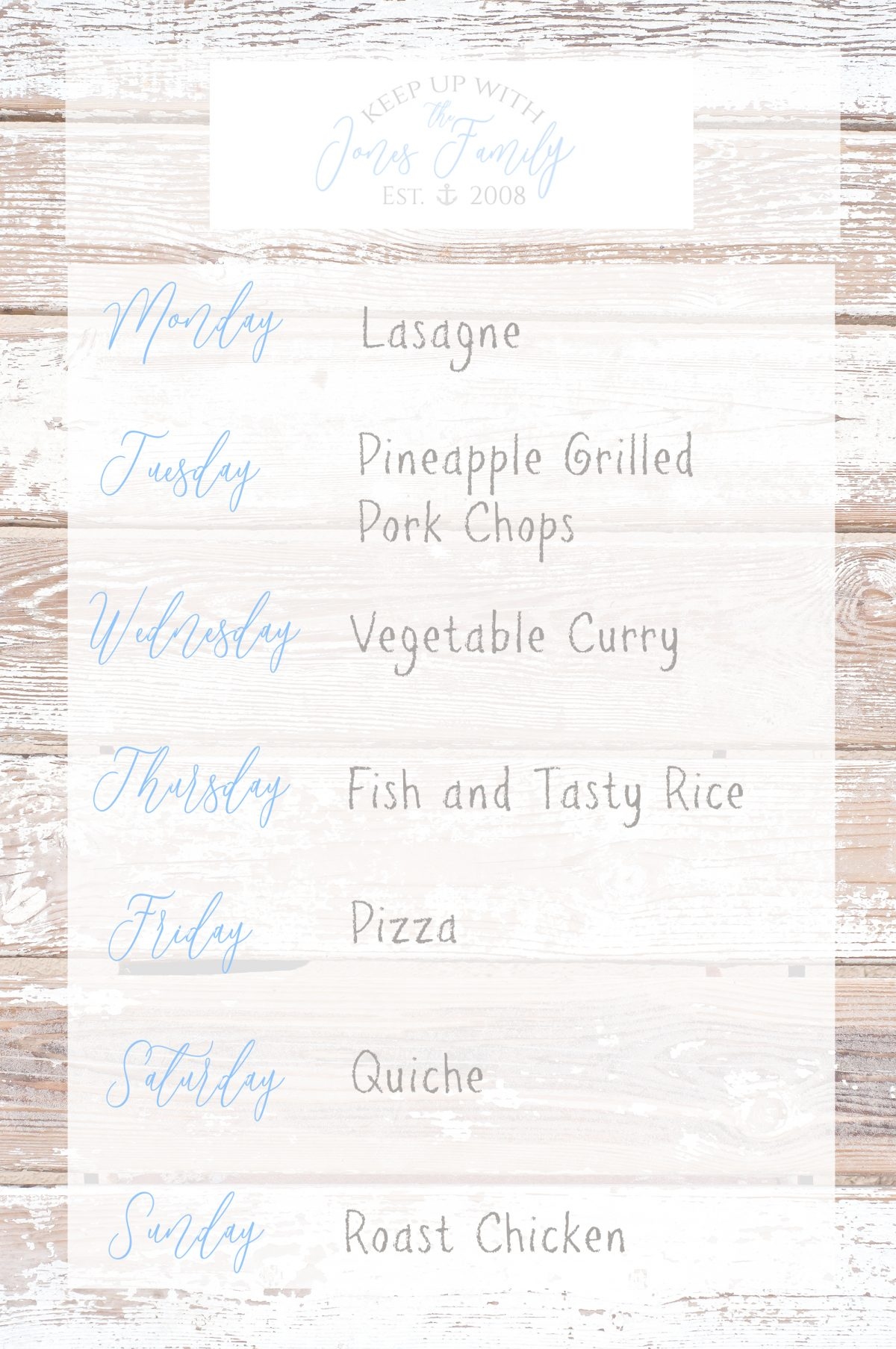 Meal Planning [1/52] 2019
