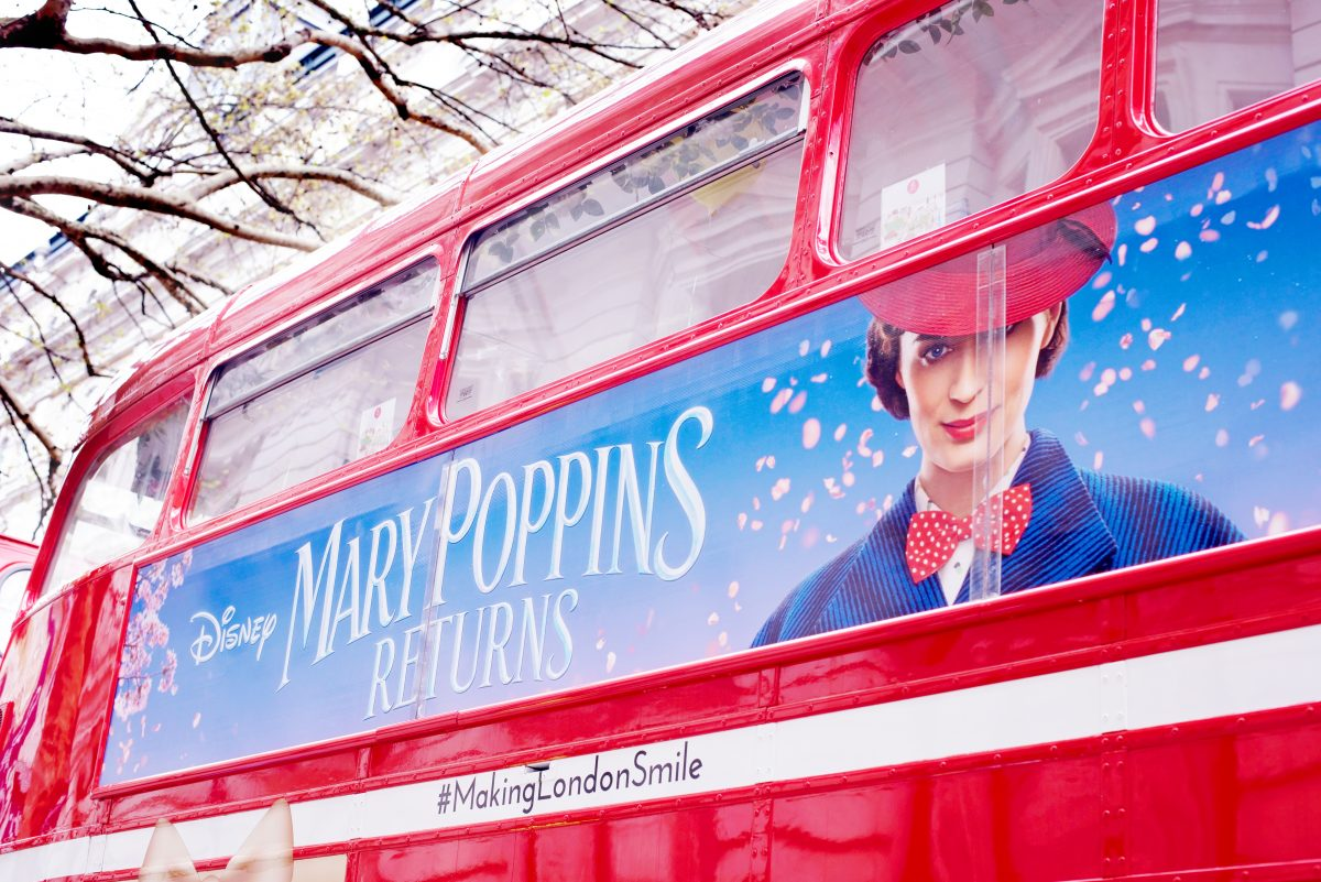 Disney Afternoon Tea bus with Mary POppins