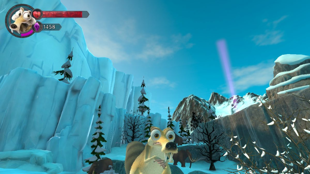 WHAT'S GOING ON? SCRAT REACHES THE ICE AGE IN SCRAT'S NUTTY ADVENTURE GAMEPLAY