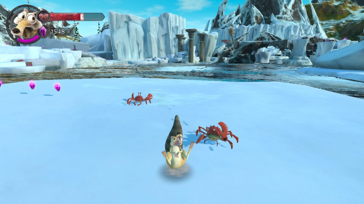 SCRAT VS. THE CRABS - FIGHTING IN SCRAT'S NUTTY ADVENTURE GAME