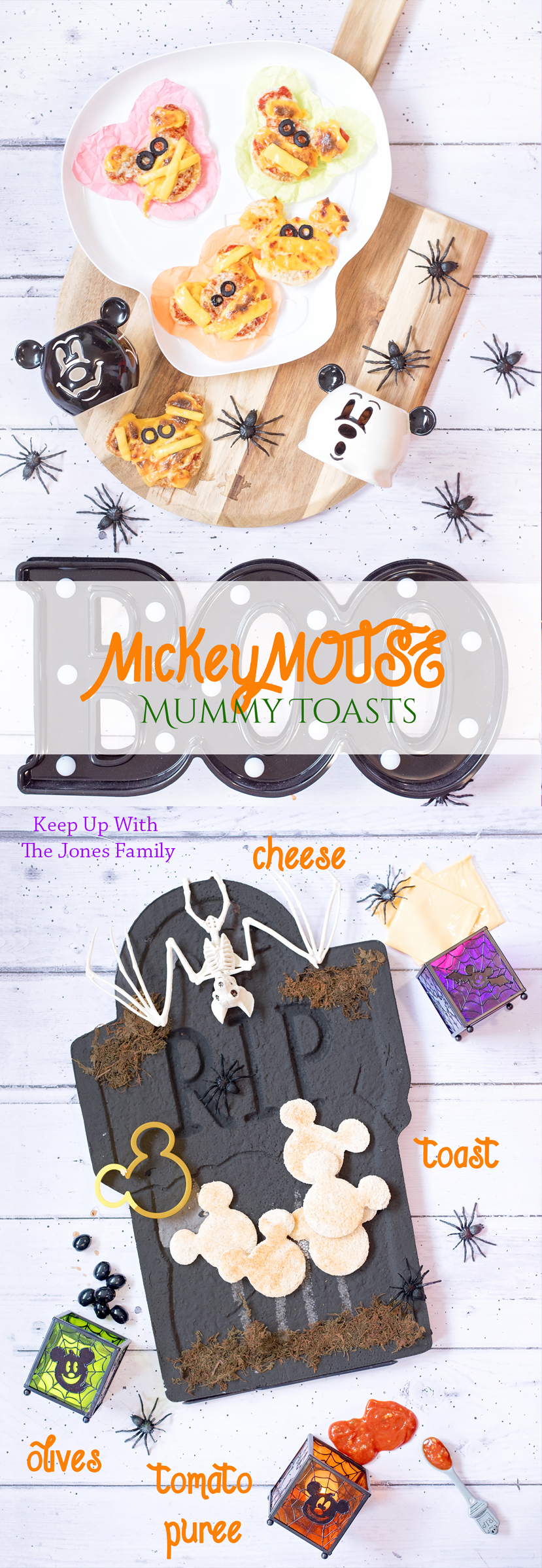Disney Mickey Mouse Mummy Toast cheese tomato