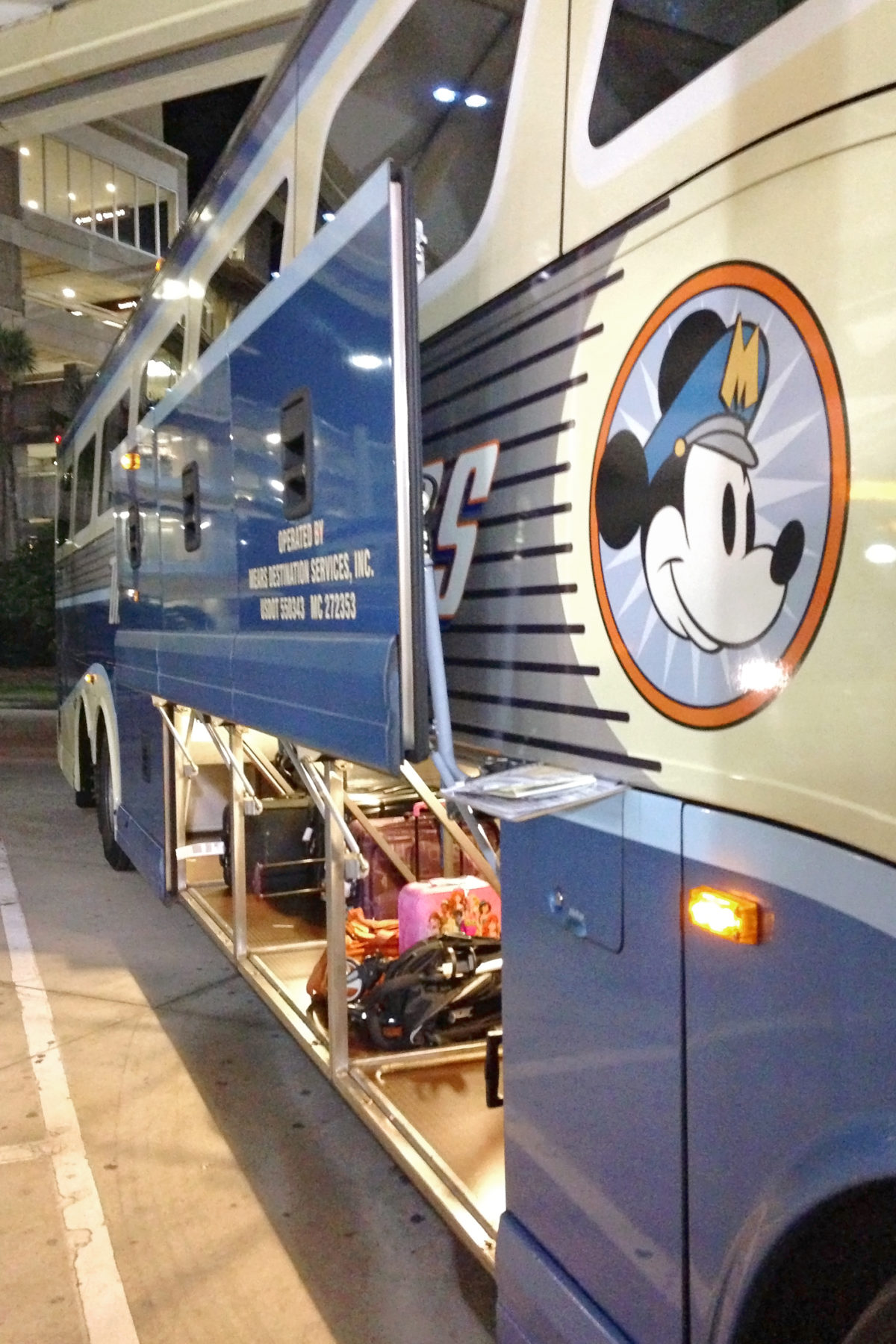 Disney's Magical Express bus at Orlando International Airport MCO