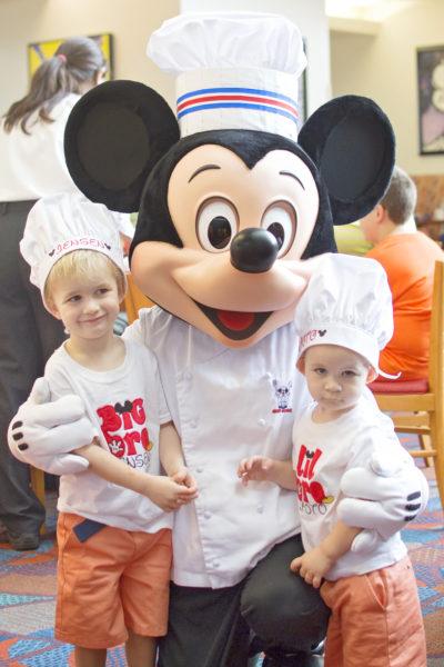mickey in chef uniform