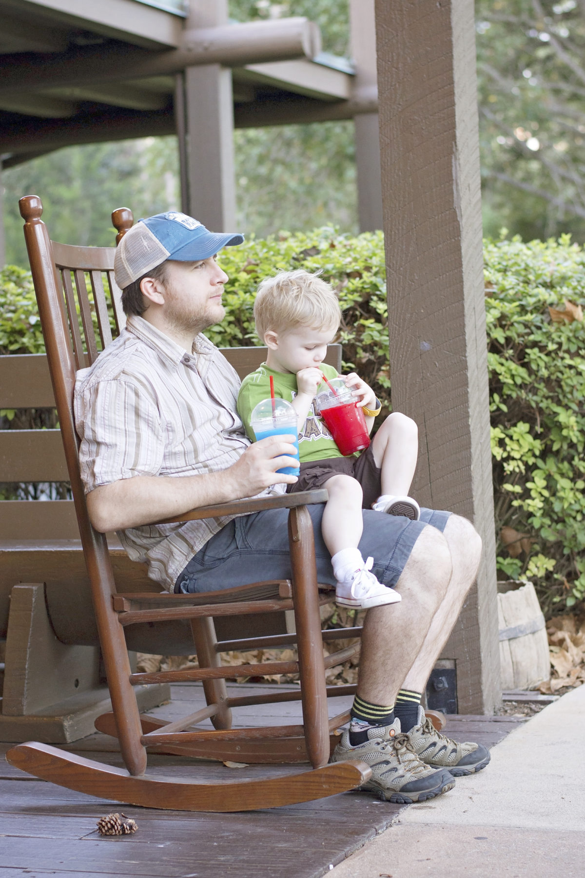 sipping slushies at fort wilderness campground