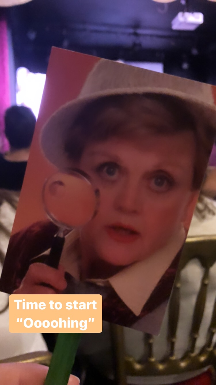Dame Angela Lansbury as Jessica Fletcher in Murder She Wrote at Solve-Along-A-Murder-She-Wrote