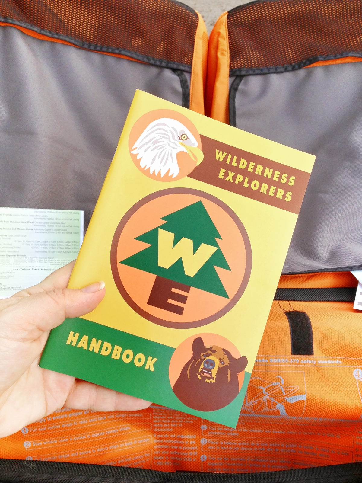 Wilderness Explorers Club Handbook at Disney's Animal Kingdom