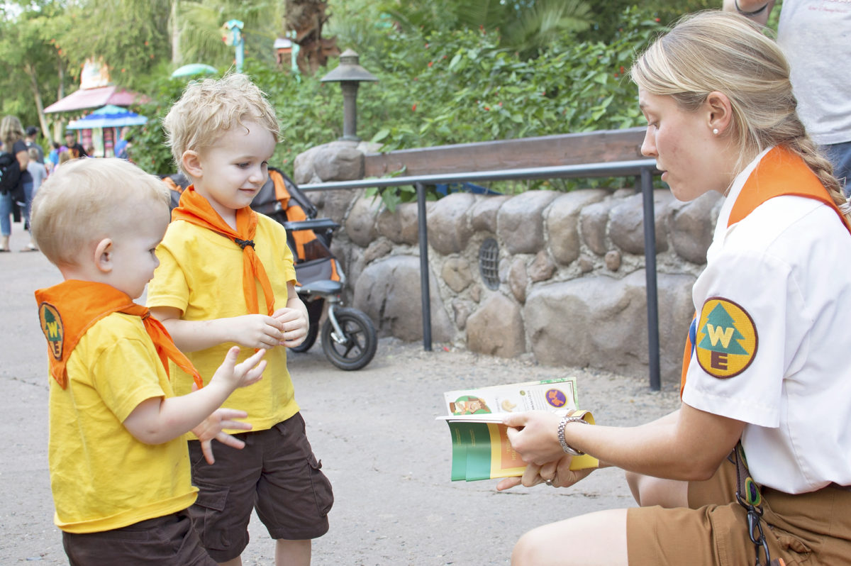 Looking at the free Wilderness Explorers Handbook