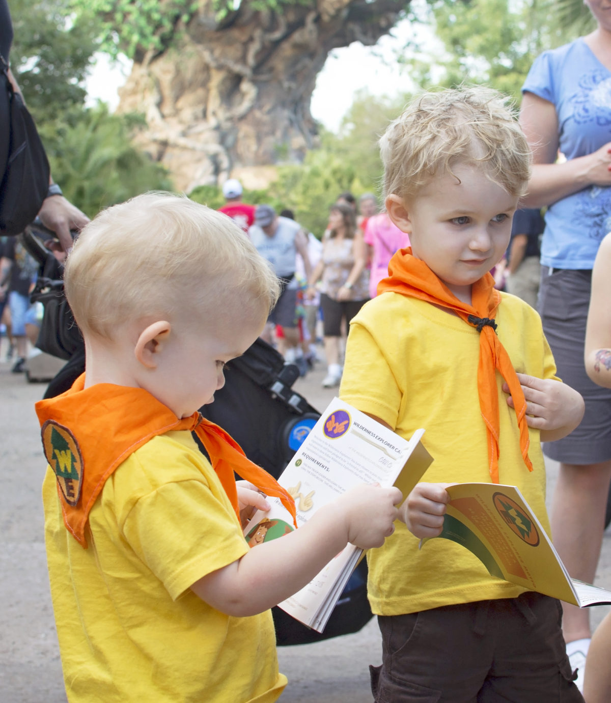 Learning how to make the Wilderness Explorers' call
