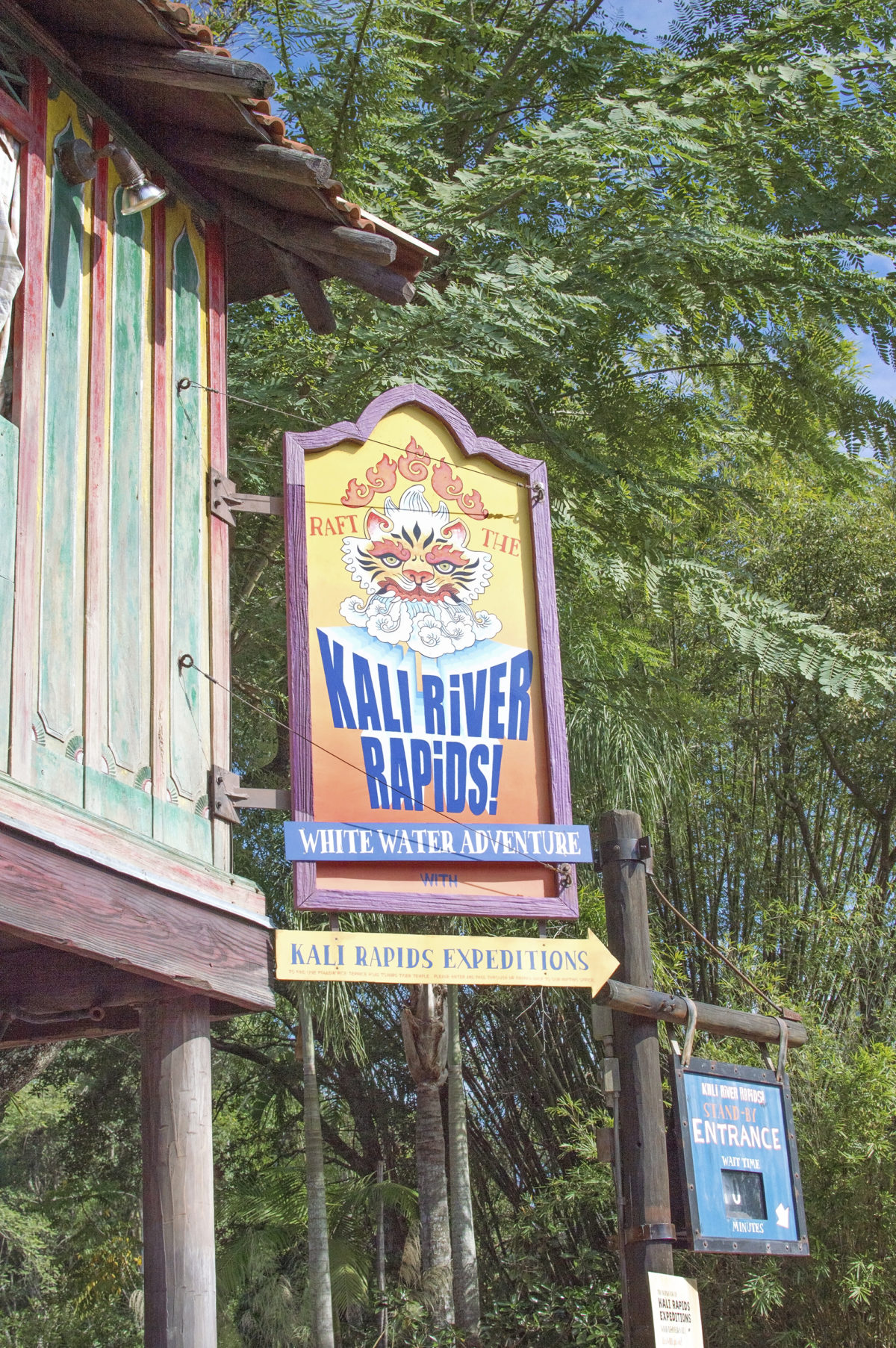animal kingdom signage for the river rapids