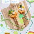 raw vegetable rice cake snacks st.patrick leprechaun
