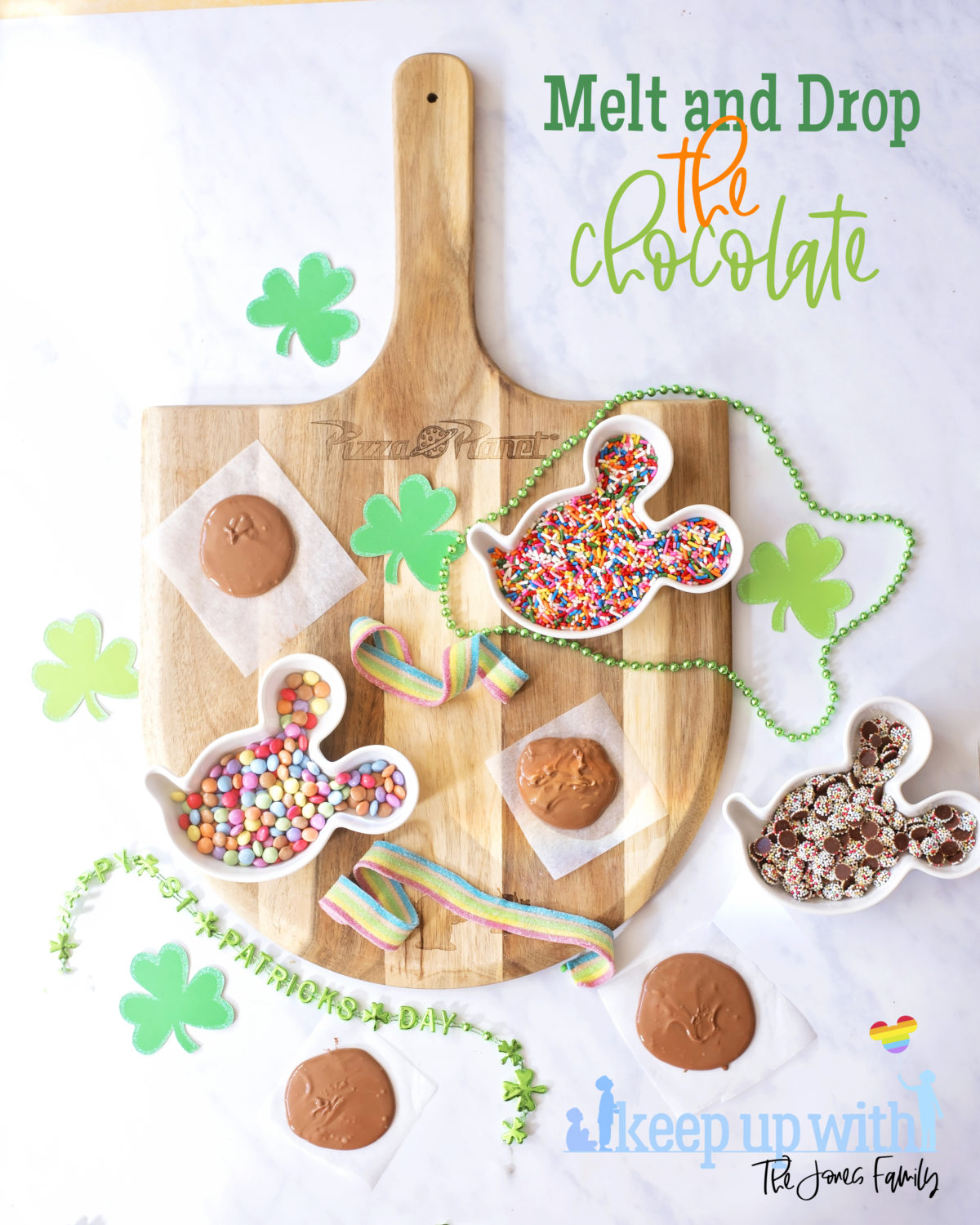 St patrick's day recipe ingredients for Leprechaun Chocolate Buttons