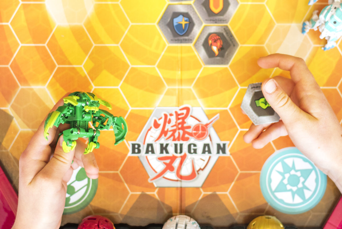 Bakugan and Bakucore.  Remember, they're Bakuballs until they get triggered and transform!